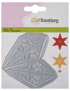 CraftEmotions stans/embossing sjabloon 3D-Ster