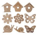 Streuteile Holz, 27 Stück Spring natur (28 mm)
