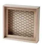 Caja con malla de alambre (20 x 5 x 20cm), natural