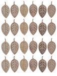 Streuteile Holz, 24 Stück Blätter (4 cm)