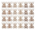 Houten strooidelen - Kever (4 cm) 24 stuks