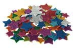 Glitter foam - Sterren, zelfklevend, 100 stuks