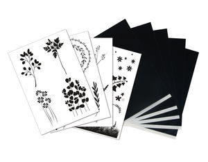 Transferpapier met A4 sjablonen - Planten, 5 vel