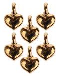 Metallanhänger, 6 Stück Mini-Herzen gold