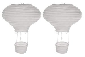 Papieren lampionnen Luchtballon (15x23cm) 2 stuks