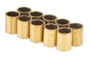 Messing hulzen, 0,4 x 4 x 5 mm, 10 stuks.