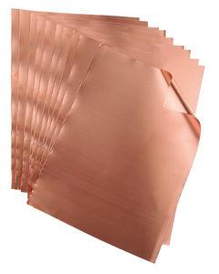 Kupferfolie, 10 Blatt DIN A4 (0,1x210x300mm)