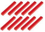 Cremallera de PVC de 50 mm, 10 ud