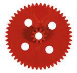 Dubbele tandwielen (50-10), rood, 10 stuks