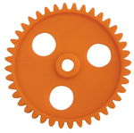 Tandwielen (42 mm/40 tanden), oranje, 10 stuks
