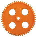 Zahnräder (50 mm/50 Zähne), 10 Stück orange