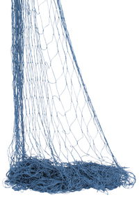 Decoratie visnet, blauw 2 x 3 m