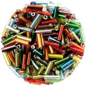 Stiftperlen, 17 g bunt sortiert       (6 mm)