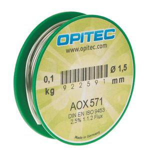 Fil à souder AOX 571, Sn99,3CuN..., 100 g