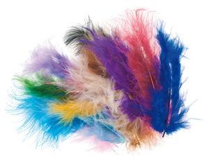 Marabou veren (8 - 10 cm) kleurrijk, 500 stuks