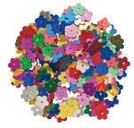 Pailletten bloemen (10 mm) kleurrijk, 15 g