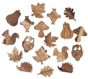 Houten strooidelen - Herfst, 18 stuks