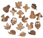 Elementos de madera para dispersar - Otoño