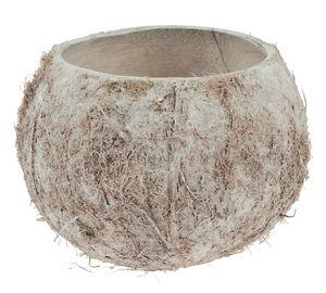 Decoratieve kokosnoot, ruw, gewit, ø 12 x 9 cm