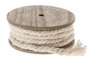Jute koord, op houten spoel, 7 m lang, 8 mm dik