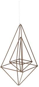 Metallhänger Diamant, 2er Set (33x14cm/8,5x18cm)