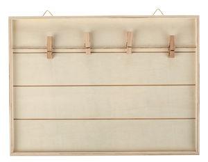 Holzrahmen mit Fotoleine (30 x 1,5 x 22 cm)
