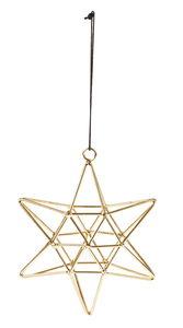 Metalen hanger - Ster (12 x 14 cm) goudkleur
