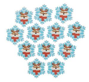Flocon de neige en bois avec renne, p...,