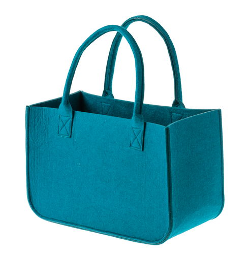 Favoriete Vilten tas met 2 hengsels, petrol - Opitec Sieraden Maken #WE31