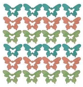 Houten strooidelen - Vlinders (30 mm) 24 stuks