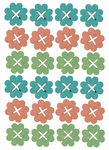Houten strooidelen - Bloemen (30 mm) 24 stuks