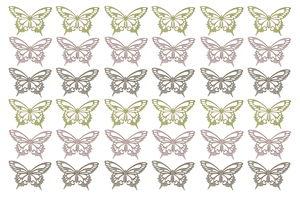 Streuteile Holz, 36 Stück Schmetterlinge