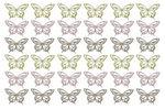 Houten strooidelen - Vlinders, 36 stuks