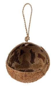 Kokosnoot voederbakje, natuurproduct (12 x 12 cm)