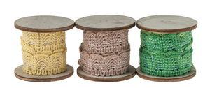 Rubans déco, 3 couleurs,..., Mix de verts