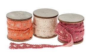 Decoratieband (2m x 15mm) roodtinten, 3 stuks