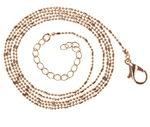 Cadena de bolitas con anillas, color oro (65 cm)