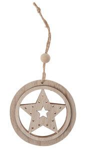 Houten hanger 'Ster' (9 cm)