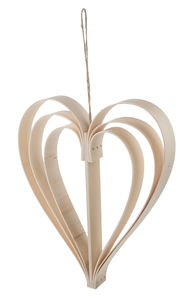 Holzhänger Herz natur (23,5 x 3 x 28 cm)