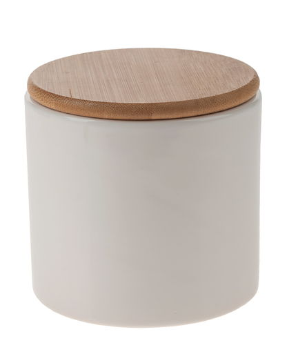 keramikdose mit holzdeckel 110 x 108 mm opitec. Black Bedroom Furniture Sets. Home Design Ideas