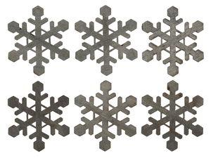 Houten strooidelen 'Sneeuwvlokken',ø 60mm, 6 stuks