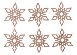 Houten strooidelen 'Ster' (6 cm) 6 stuks