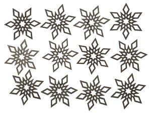 Streuteile Holz, 12 Stück Sterne (4 cm)