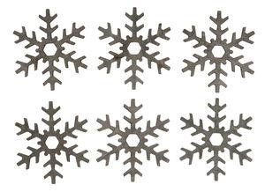 Houten strooidelen 'Sneeuwvlok', ø 60 mm
