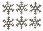 Copos de nieve de madera (60 mm) 12 ud.