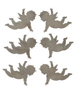 Houten strooidelen 'Engel', 50 x 40 mm
