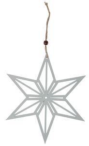 Houten hanger 'Ster' (26 x 30 cm) wit