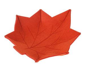 Filz-Schale, Blatt orange (33 x 31 cm)