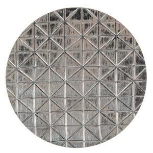 Houten onderzetter Ornament (29 cm) naturel/zilver