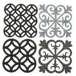 Vilten onderzetters Ornamenten (10x10 cm) 4 stuks